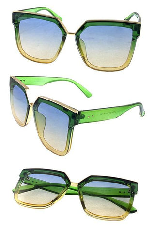 """HIGH END"" Fashion Square Sunglasses - Weekend Shade"