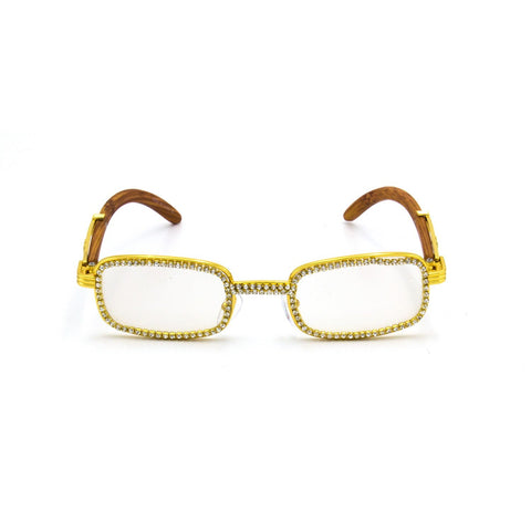 """lced Out"" Gold Frames - Weekend Shade"