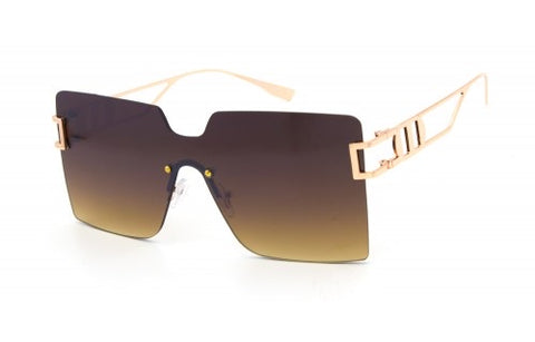 Fashion Rimless Square Sunglasses
