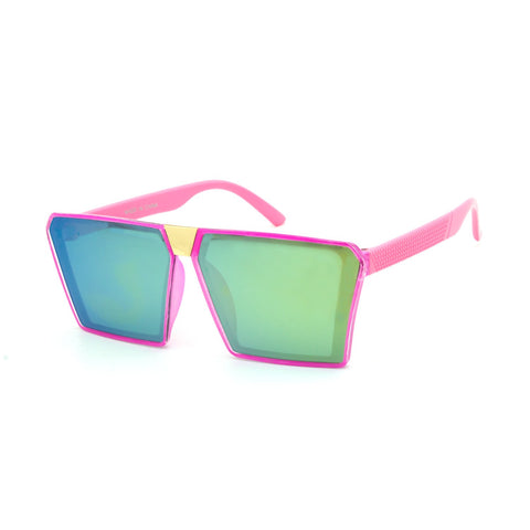 Kids Neon Oversize Square Sunglasses