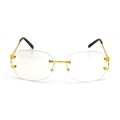 """Mansions"" Rimless Clear Frames - Weekend Shade"