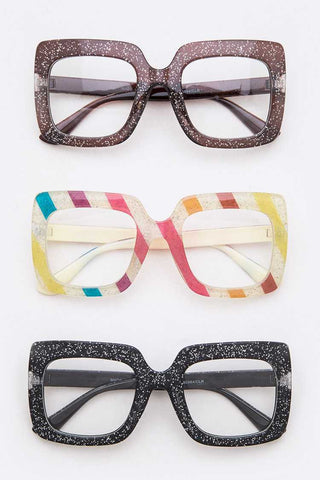 Glitter Oversize Optical Glasses