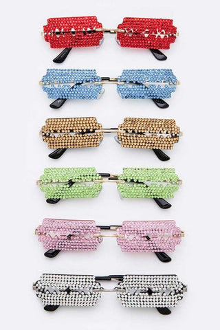 Razor Blade Mini Square Sunglassses