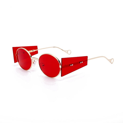 Punkish Oval Round Sunglasses