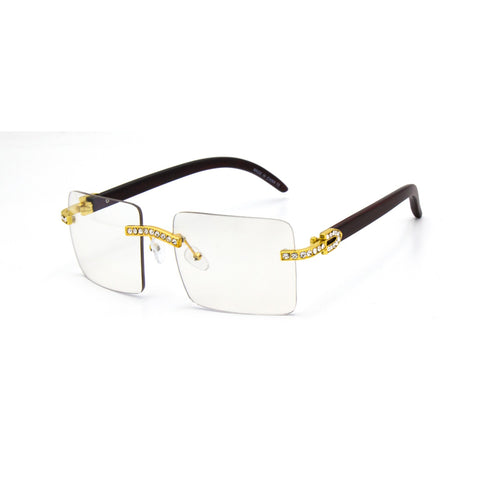 Men clear lens glasses