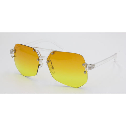 """Glam Girl"" Rimless Sunglasses - Weekend Shade"