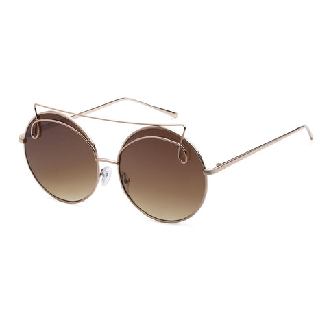 """Valerie"" Metal Round Sunglasses"