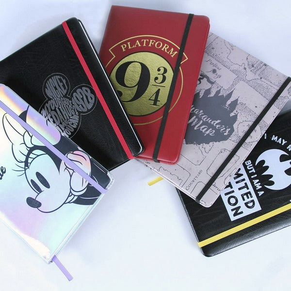 Agenda con Segnalibro Harry Potter A5 Bordeaux
