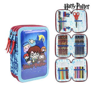 Plumier Triplo Giotto Harry Potter Azzurro (43 Pcs)