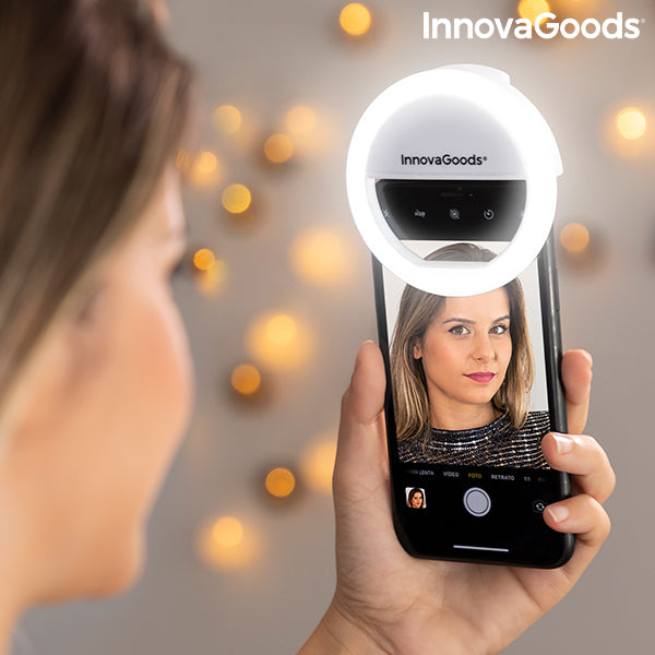 Ring Light Ricaricabile per Selfie Instahoop InnovaGoods