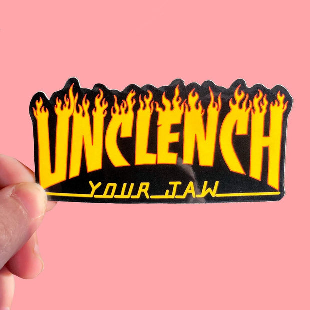 Unclench Your Jaw Sticker 1