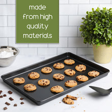 "Load image into Gallery viewer, Non Stick Bakeware Set, Includes 2 Cookie Sheets, 12"" x 17.5"" Half Sheet Baking Trays, Cake and Cookie Baking Pans, Oven Safe, Warp and Rust Resistant"