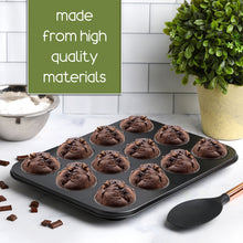 Load image into Gallery viewer, Non-Stick Bakeware 12 Cup Muffin Pan, Set of 2, Heavy Duty & Easy Release Cupcake Baking Pan