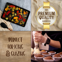 Load image into Gallery viewer, Non Stick Bakeware Set, Includes 2 Cookie Sheets, 1 Half Sheet Pan & 1 Quarter Sheet Pan, Warp and Rust Resistant