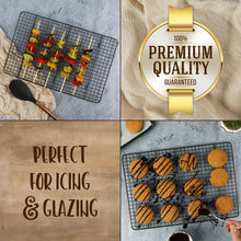 Load image into Gallery viewer, Cooling Rack for Baking, Large 11.75 x 17 Fits Half Sheet Pan, Non Stick, Easy to Clean and Cross Wires for Stability and Maximum Airflow