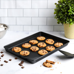 "Non Stick Cookie Sheet, 9"" x 13"" Cake and Cookie Baking Pan, Oven Safe Bakeware"