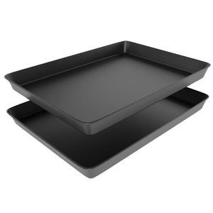 "Non Stick Bakeware Set, Includes 2 Cookie Sheets, 12"" x 17.5"" Half Sheet Baking Trays, Cake and Cookie Baking Pans, Oven Safe, Warp and Rust Resistant"
