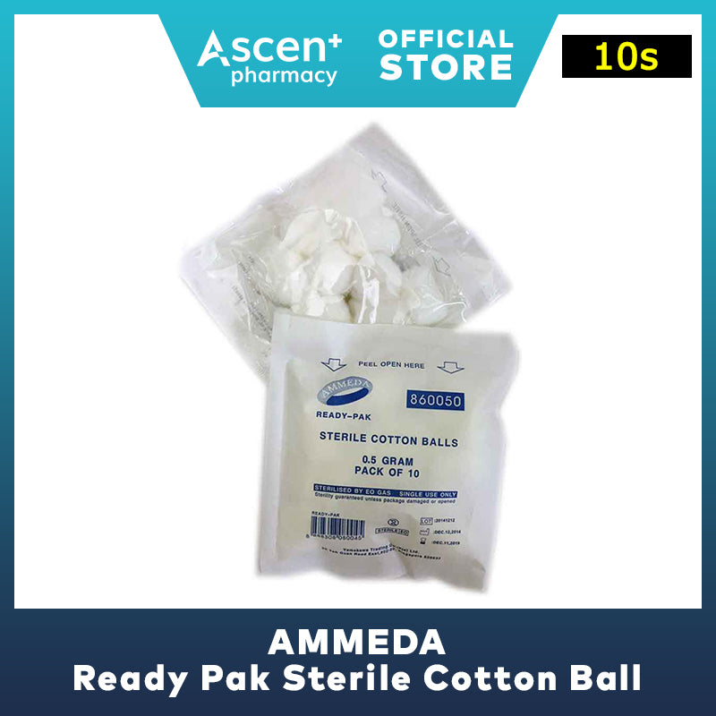 AMMEDA Ready Pak Sterile Cotton Ball [10s]