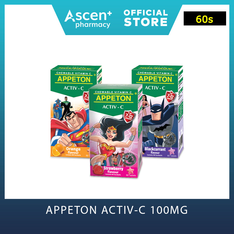 APPETON Activ-C 100mg for 7-12 Years [60s] Orange
