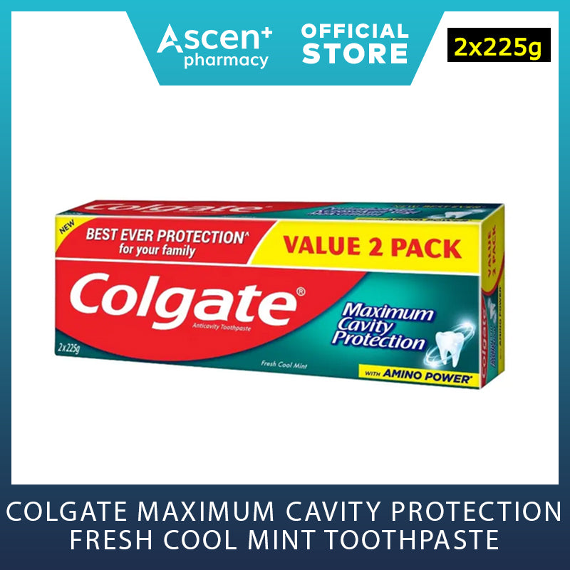 COLGATE Maximum Cavity Protection Fresh Cool Mint Toothpaste [2x225g]