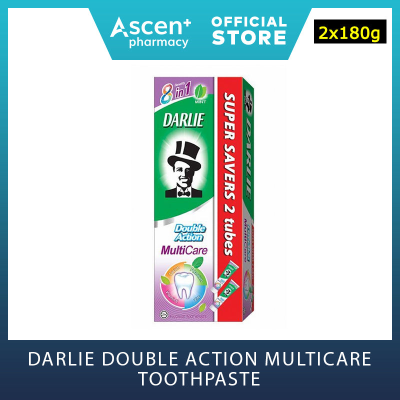DARLIE Double Action Multicare Toothpaste [2x180g]