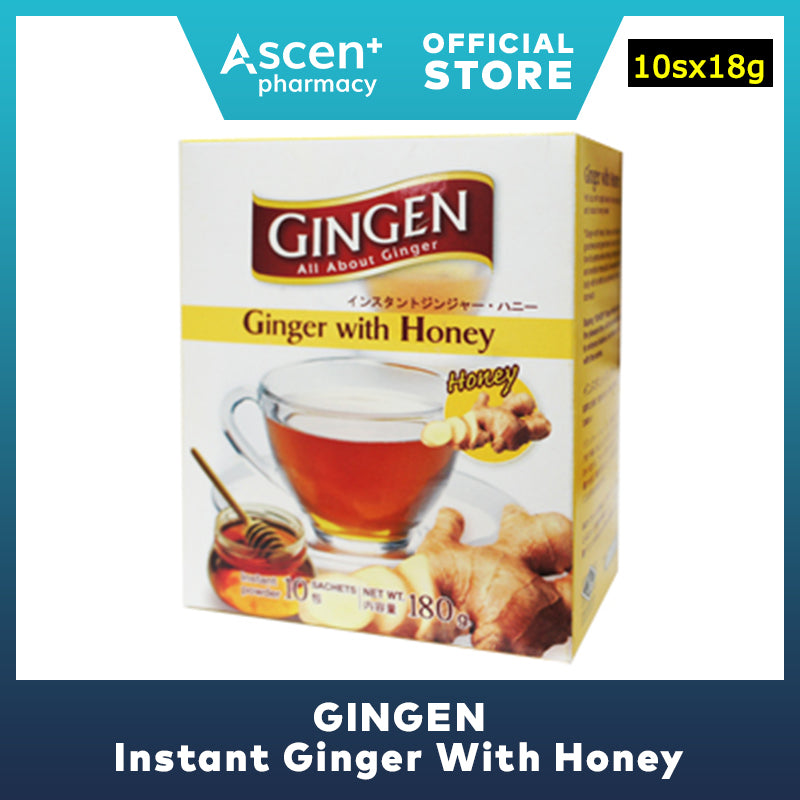 GINGEN Instant Ginger With Honey [10sx18g]