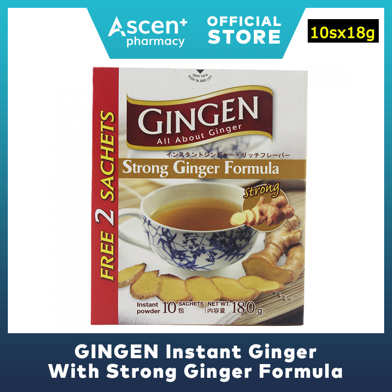 GINGEN Instant Ginger With Strong Ginger Formula [10sx18g]