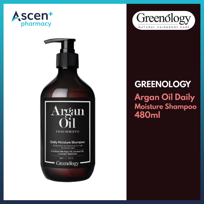 GREENOLOGY Argan Oil Daily Moisture Shampoo [480ml]