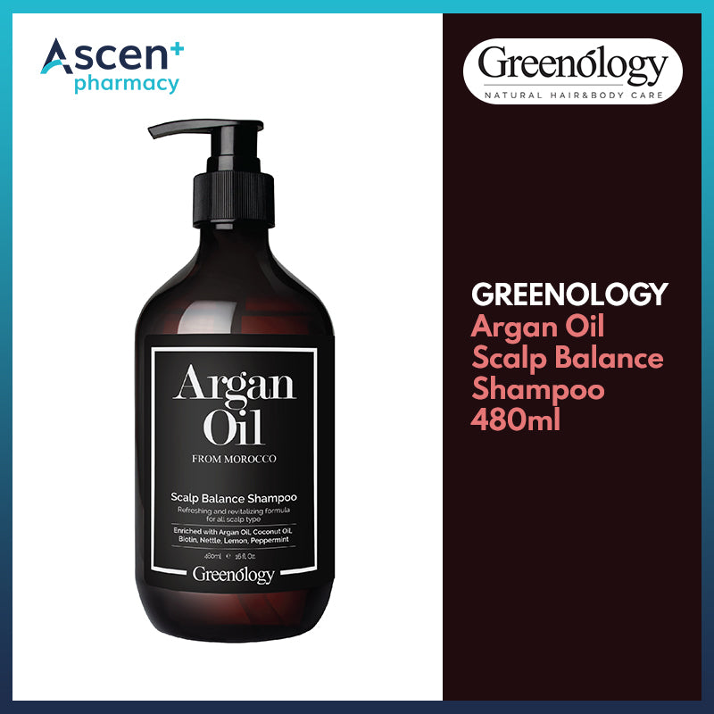 GREENOLOGY Argan Oil Scalp Balance Shampoo [480ml]