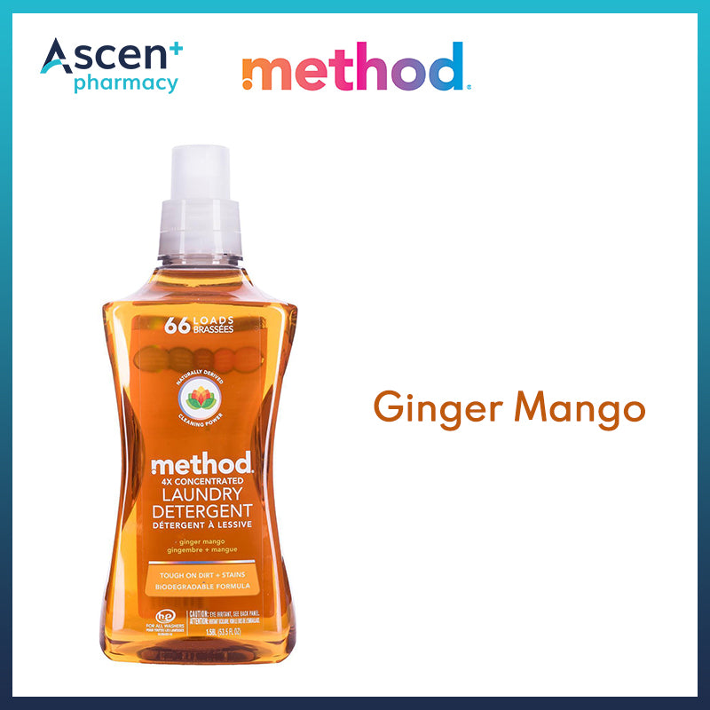 METHOD 4X Concentrated Laundry Detergent [1.58L] Ginger Mango