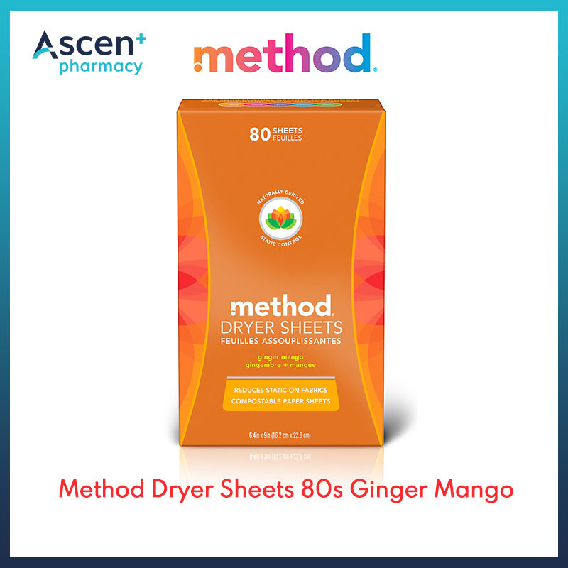METHOD Dryer Sheets (Ginger Mango) [80s]