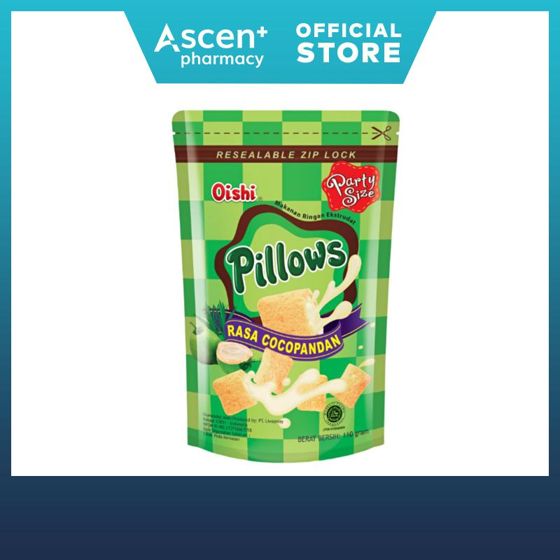 Oishi Pillow Coconut Pandan 110g