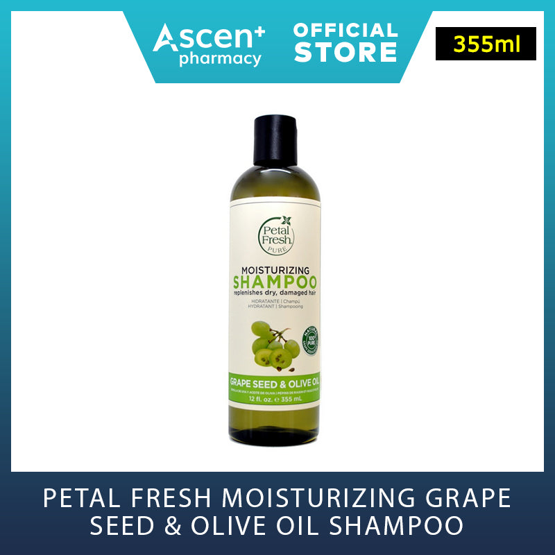PETAL FRESH Moisturizing Grape Seed & Olive Oil Shampoo/Conditioner [355ml]