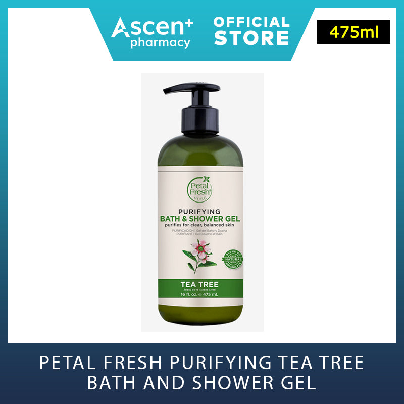 PETAL FRESH Purifying Tea Tree Bath and Shower Gel [475ml]
