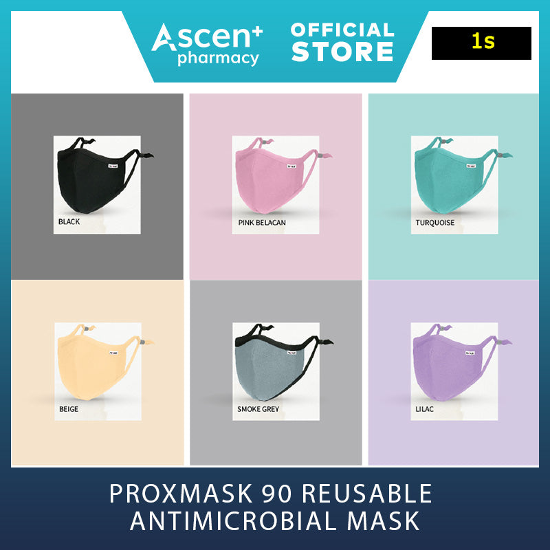 PROXMASK 90V Anti Virus and Anti Bacterial Protective Mask [2s] - Black