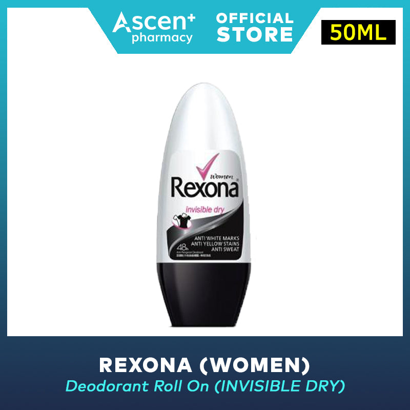 REXONA Deodorant Roll On (Women) [50ml] - Invisible Dry