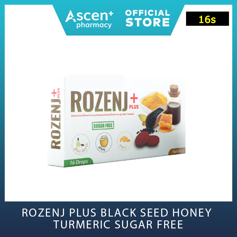 ROZENJ Plus Black Seed Honey Turmeric Sugar Free [16s]