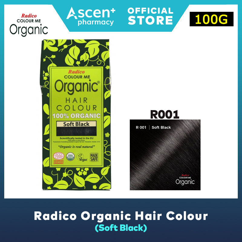RADICO Organic Hair Colour [100g] - Soft Black