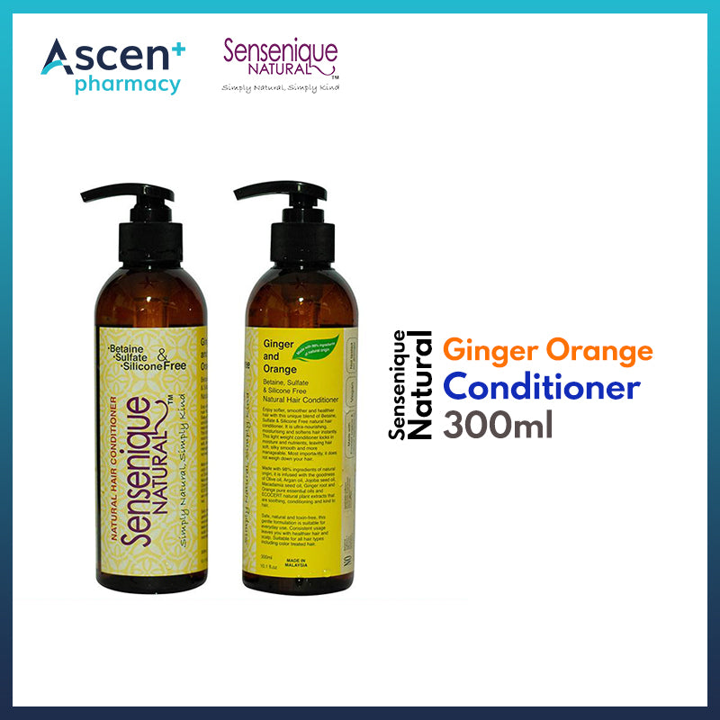 SENSENIQUE NATURAL Ginger Orange Conditioner [300ml]
