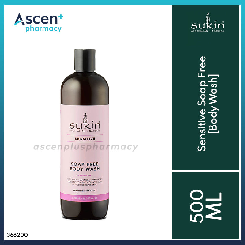 SUKIN Sensitive Soap Free Body Wash [500ml]