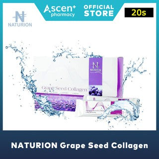 NATURION Grape Seed Collagen [20s] [Buy 3 to Get 1 Free + 6 Sachets + Non Woven Bag + Tumbler]
