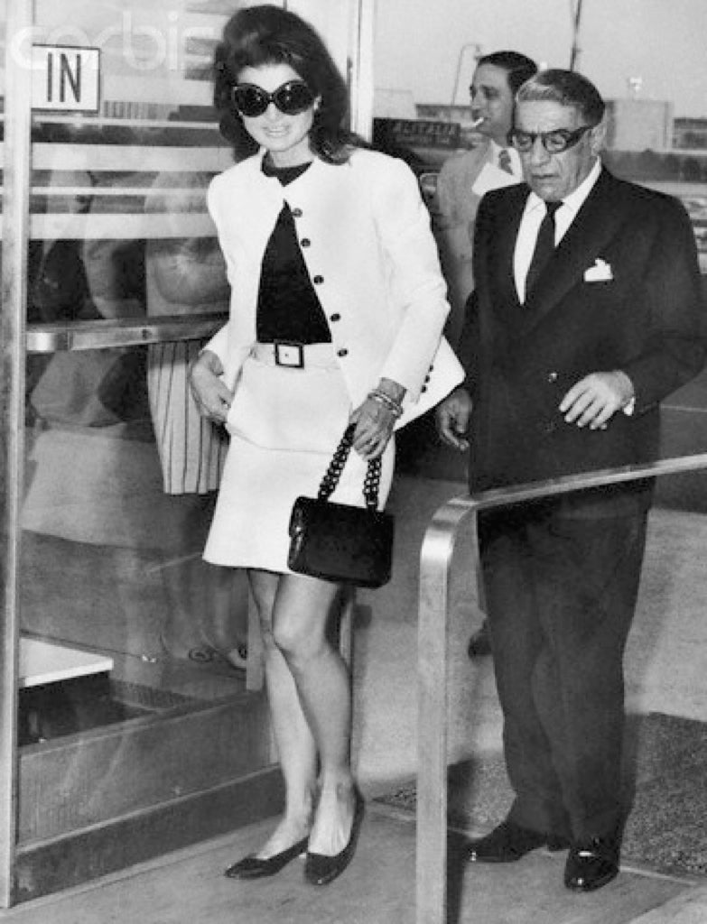 Jackie Kennedy Onassis, our Style Icon in The Classic Tee Shirt Jackie O Style!