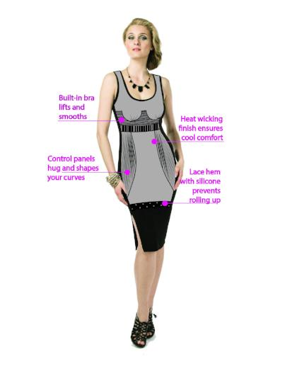 Haley Midi Tank Dress,  Dress, - ParisGordon.com Tank top Dresses with 360° of compression shaper  and bra built inside to sculpt and control the wearer.
