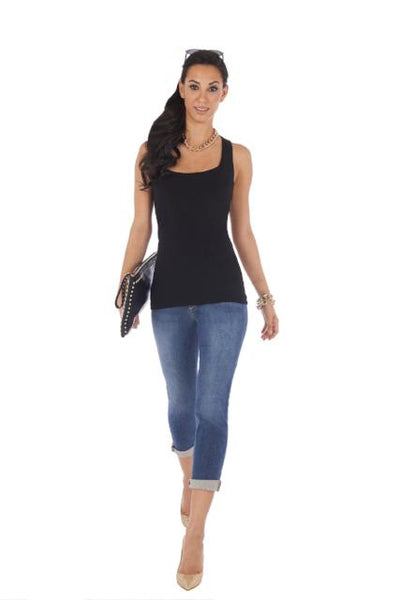 Black Tank Top Racerback Sexy Slimming Body Con