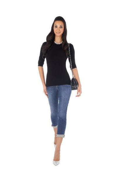 Deb Jewel Neck Tee Shirt 3/4 Sleeve - ParisGordon.com