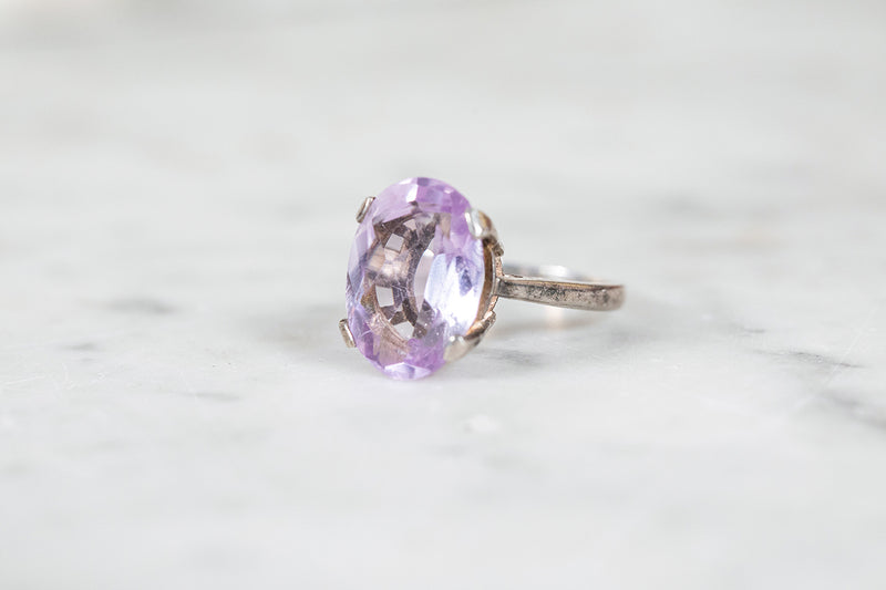 Amethyst Ring set in Silver