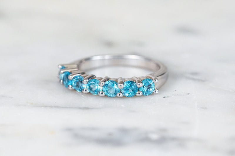 Blue Topaz Stacking Ring in Silver
