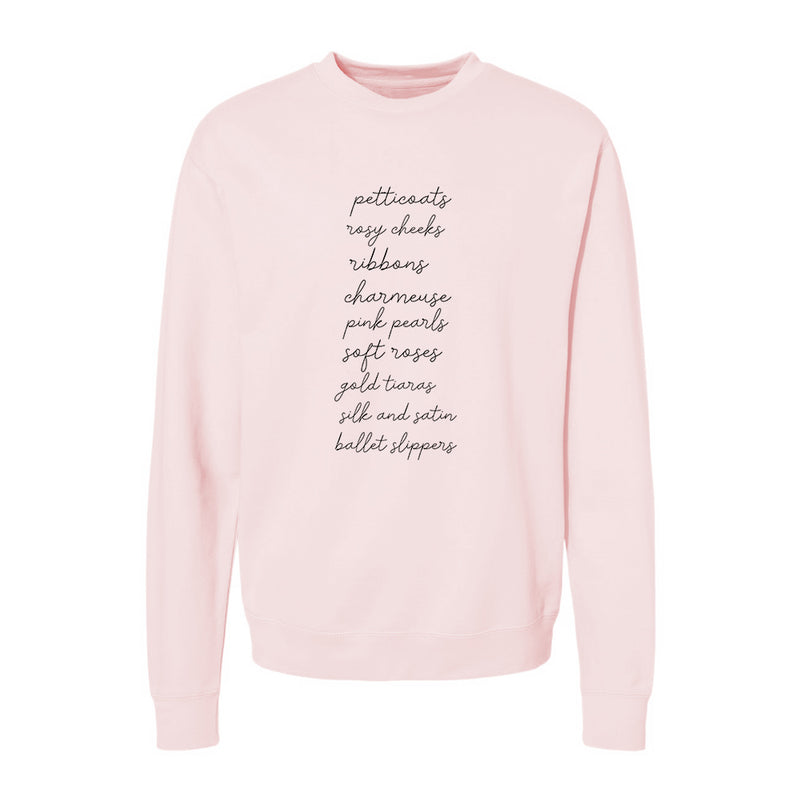 Pink Christmas List Sweater