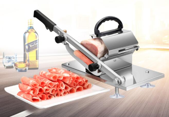 Meat Slicing Machine Alloy+Stainless Steel Household Manual Thickness And Adjustable