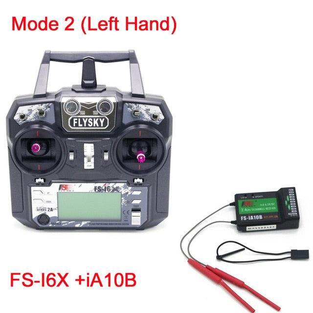Original Flysky FS-i6X 10CH 2.4GHz AFHDS 2A RC Transmitter With FS-iA6B FS-iA10B FS-X6B FS-A8S Receiver For Rc Airplane Mode 2